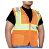Class 2 - Safety Vest (Mesh With Silver Stripes - Inner Pockets)