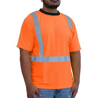 Hi-Viz Orange Class 2 Short Sleeve Mesh T-Shirt