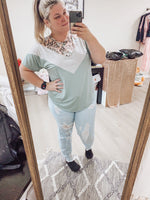 Loving Leopard Teal Top
