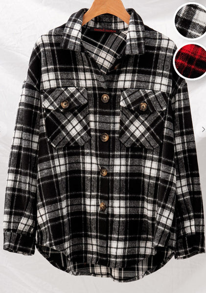 Oversized Flannel Jacket