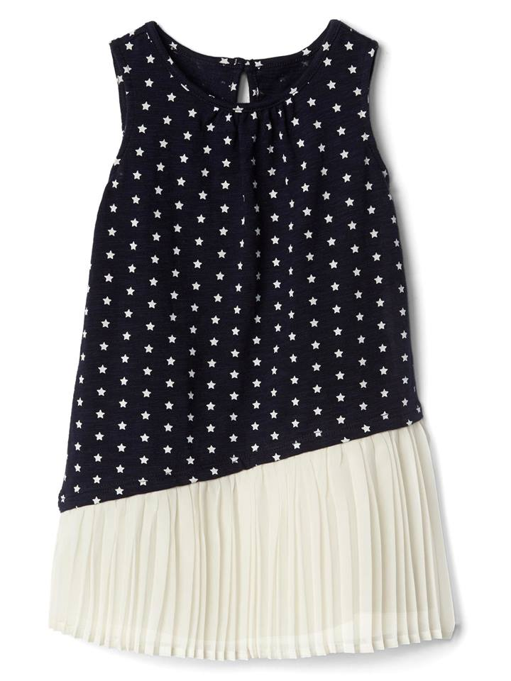 GAP Print Asymmetrical Pleat Dress