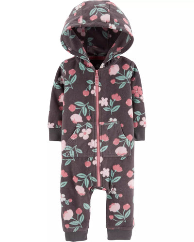 Carter's Baby Girl Hooded Floral Jumpsuit