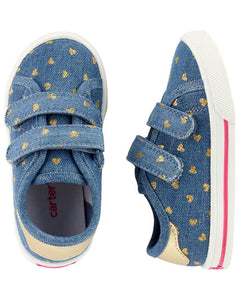 Carter's Chambray Heart Casual Sneakers