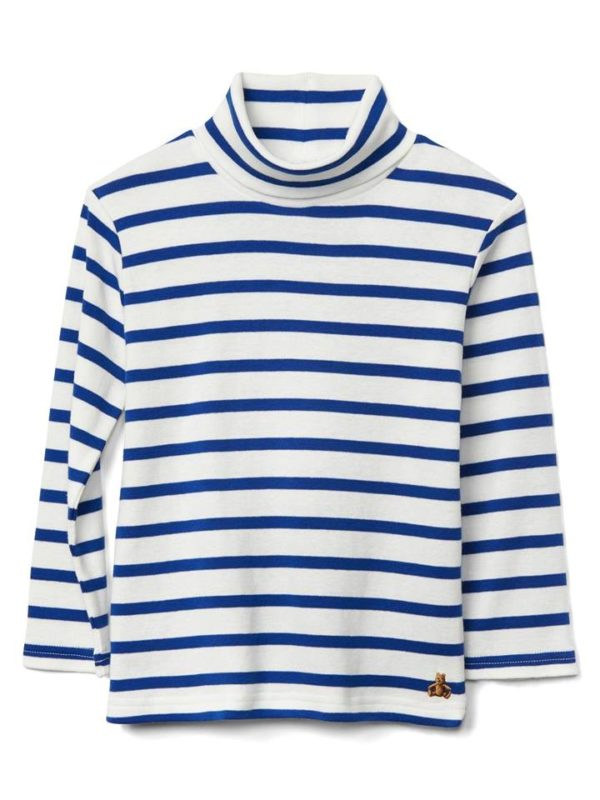 GAP Stripe Turtleneck Slub Tee