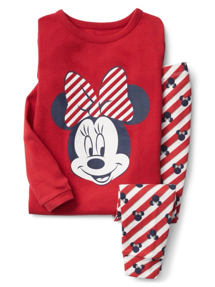 Gap Disney Baby Minnie Mouse stripe sleep set
