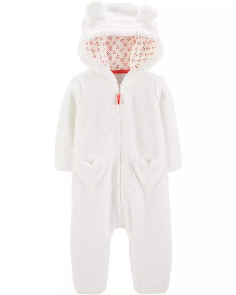 Carter's Hooded Sherpa Jumpsuit