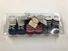 Load image into Gallery viewer, Baby Boy Booties ( Sailor )