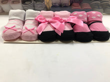 Load image into Gallery viewer, Baby Girl Booties ( Pink Ribbon )