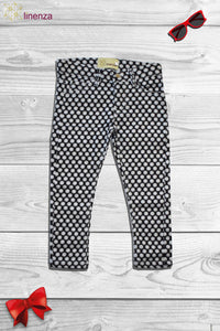 Black Color With White Spots Design