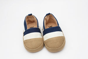Baby Boy Shoes (Blue & White Stripes)