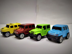 Diecast metal cars 4pcs