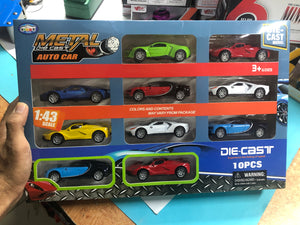 Die cast models - pack of 10 metal cars.