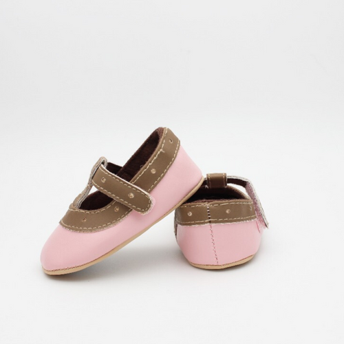 Baby Girl Shoes (Pink & Brown)