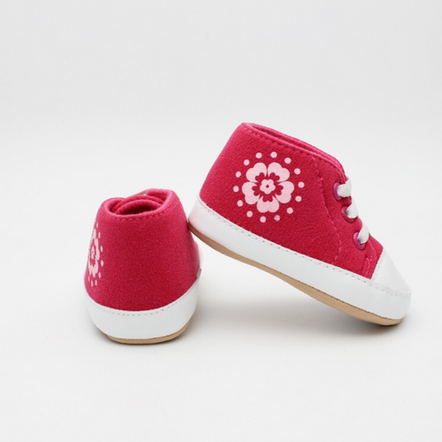 Baby Girl Shoes (Pink with Floral Design)