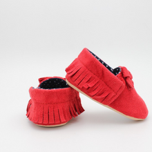 Load image into Gallery viewer, Baby Girl Shoes (Red with Spots)