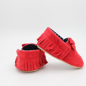 Baby Girl Shoes (Red with Spots)