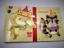 Load image into Gallery viewer, Wooden Animal Birthday Puzzle