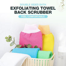 Load image into Gallery viewer, Double Sided Bath Exfoliating Towel Back Scrubber