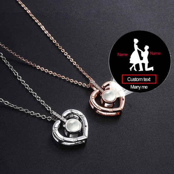 Personalized Custom Lovers Projection Necklaces * Multiple Styles