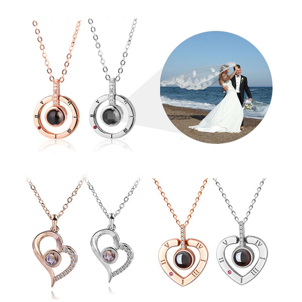 Personalized Custom Picture Projection Necklaces * 3 Styles To Choose From
