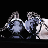 K9 Crystal Light Up Keychain With Personalized Photo
