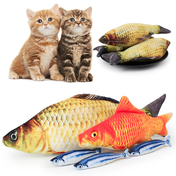 Funny Realistic Fish Chew Toy For Cat or Dog