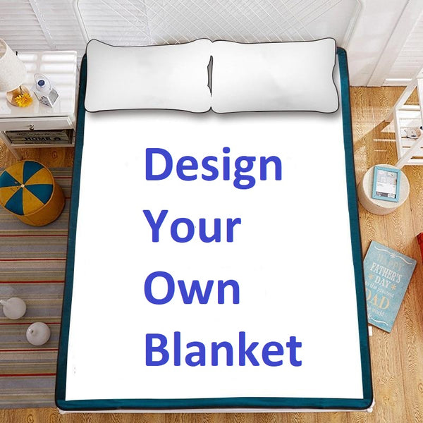 Design Your Own Plush Blanket * Personalized Photo Bed Cover