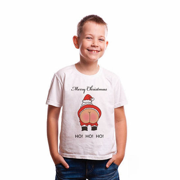 Rude Santa Claus Christmas Bare Ass T-Shirt