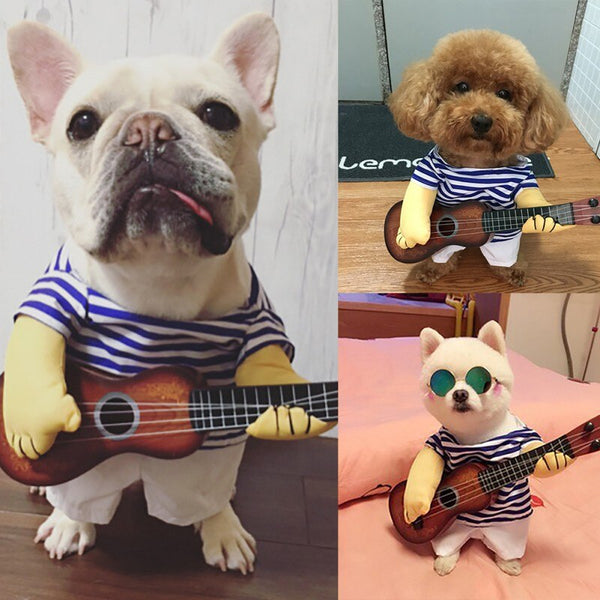 Funny Halloween Guitar Pet Costume For Cat Or Dog