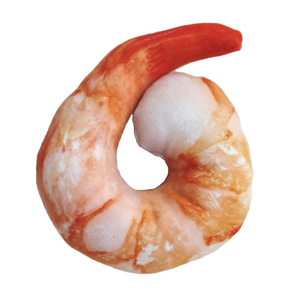 Realistic Shrimp Pet Squeak Toy For Cat Or Dog With Catnip