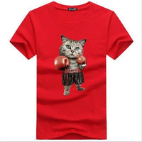 Hilarious Boxing Kitty Cat Unisex T-Shirt