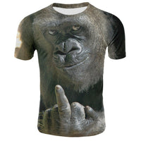 Assorted Adorable Orangutan Monkey Ape Gorilla 3D T-Shirts