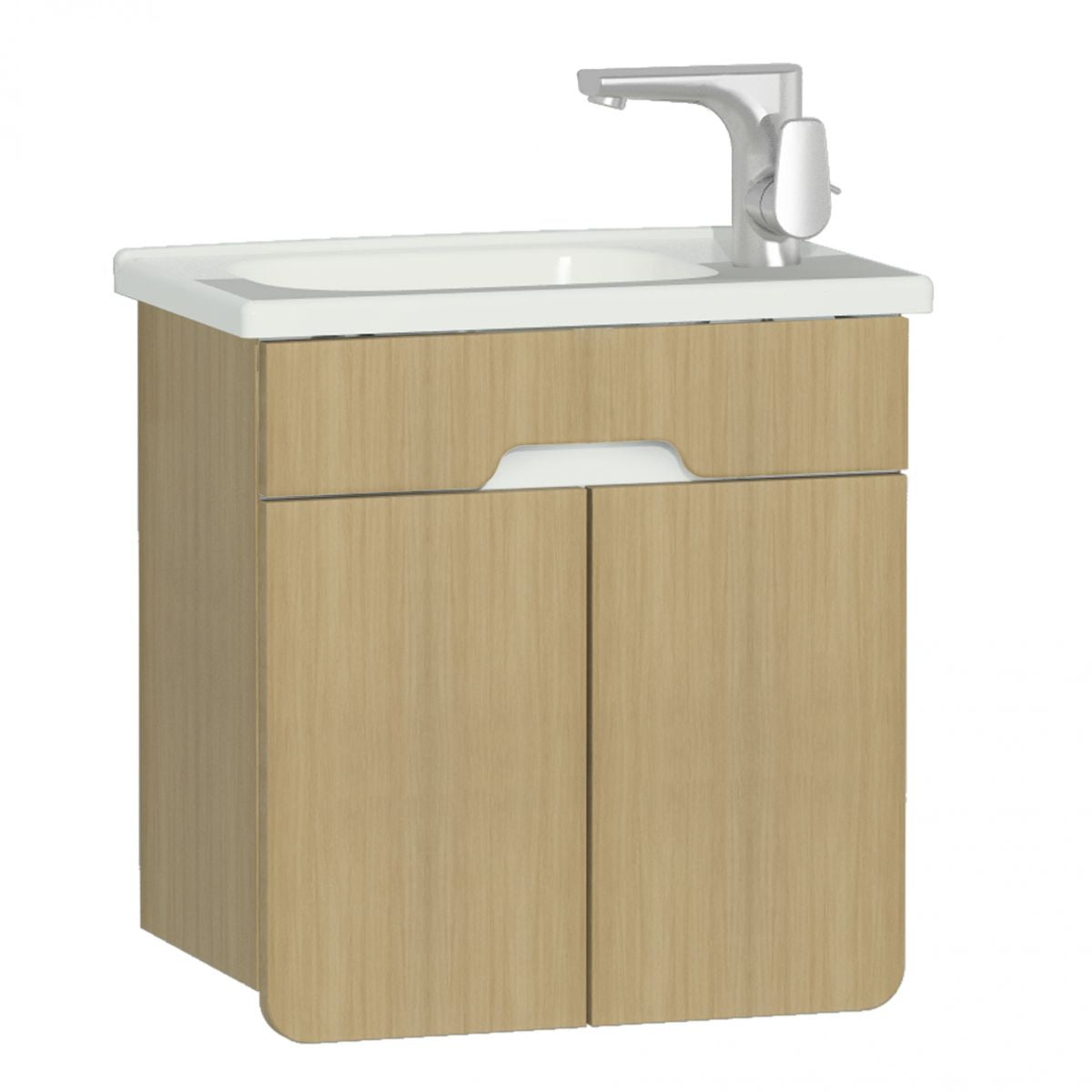 D-Light 500mm Double Door Wall Hung Unit & Basin - blueskybathrooms