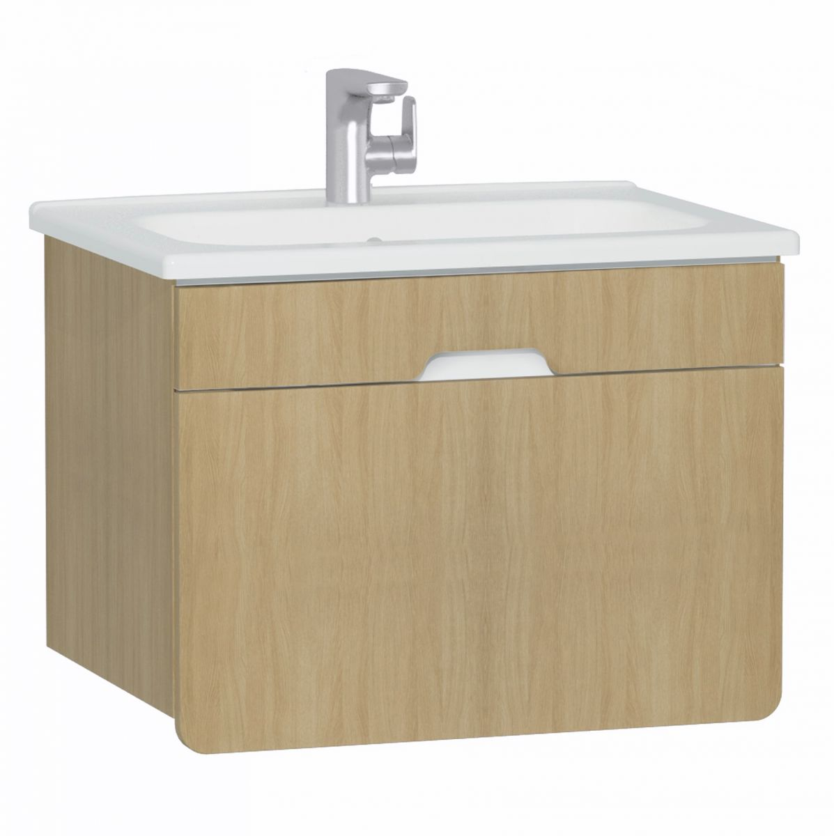 D-Light 700mm Single Drawer Wall Hung Unit & Basin - blueskybathrooms