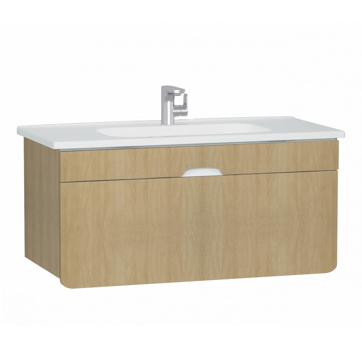 D-Light 900mm Single Drawer Wall Hung Unit & Basin - blueskybathrooms
