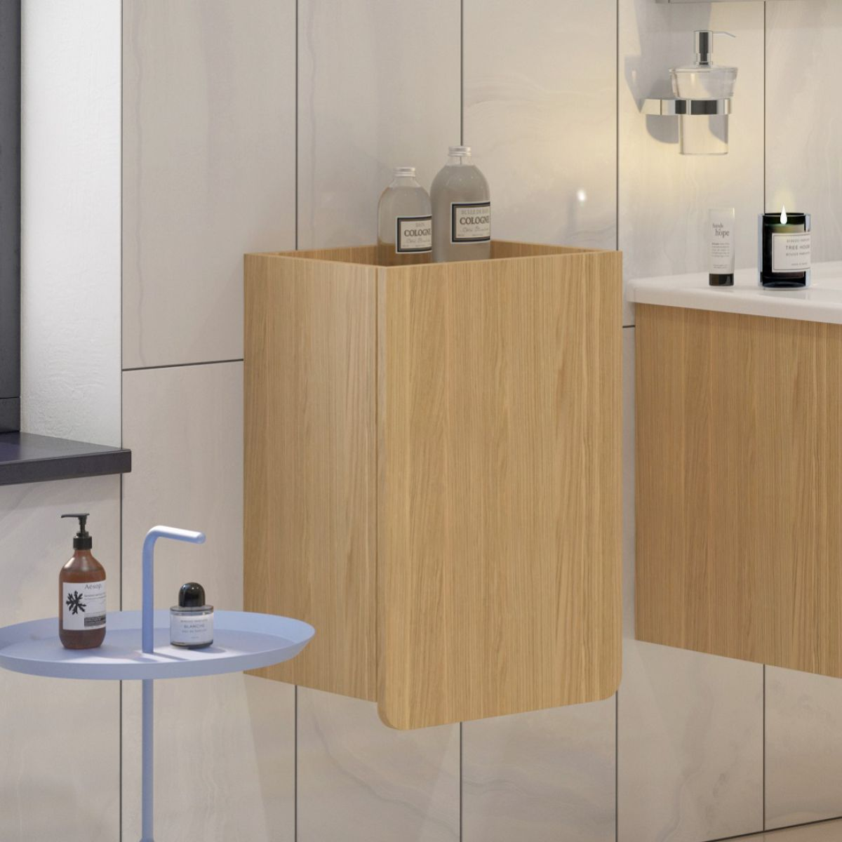 D-Light Wall Hung Side Unit - blueskybathrooms