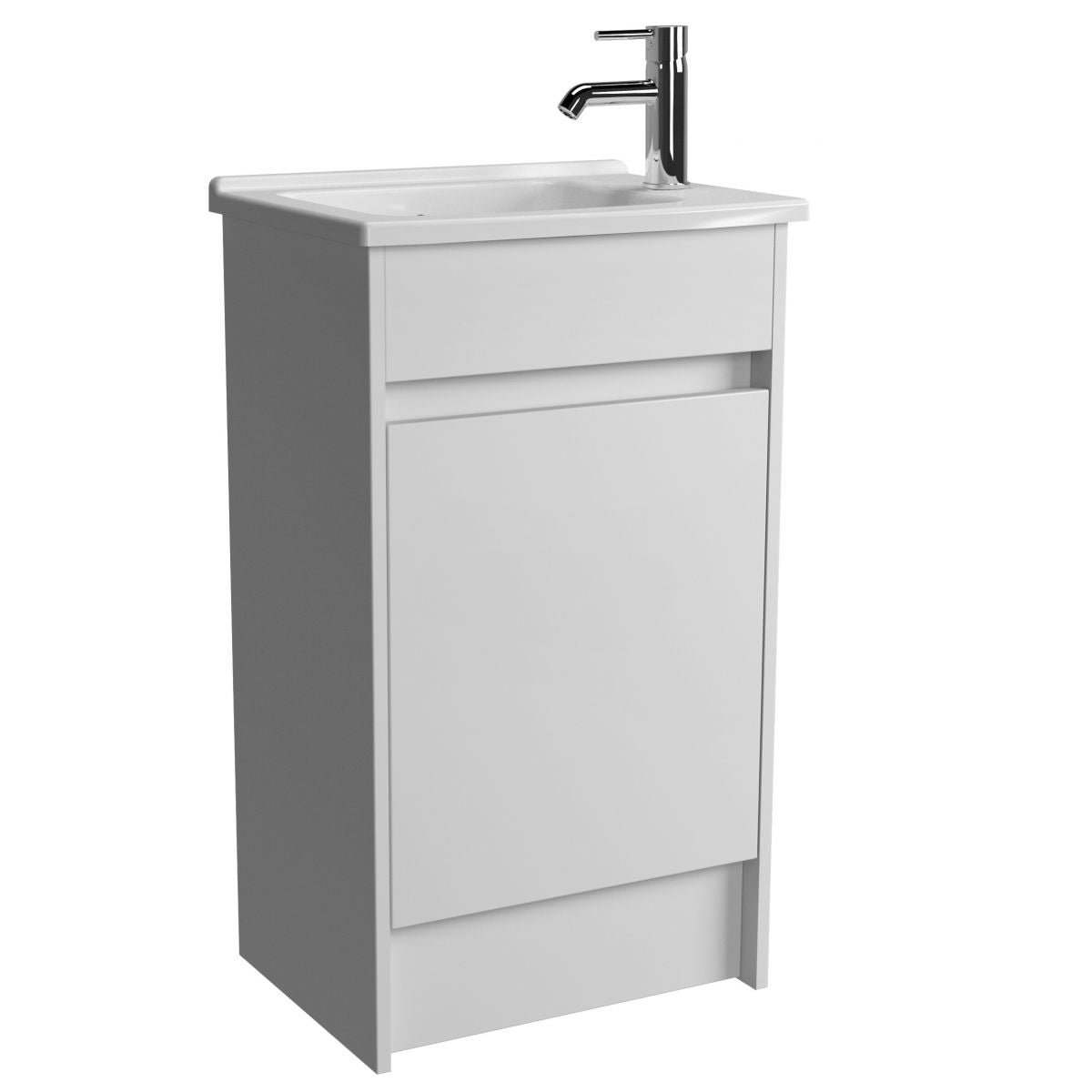 S50 500mm Floor Standing Unit and basin - blueskybathrooms