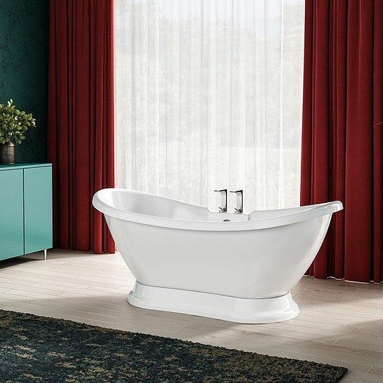 Charlotte Edwards Trafalger Gloss White 1700mm Freestanding Bath