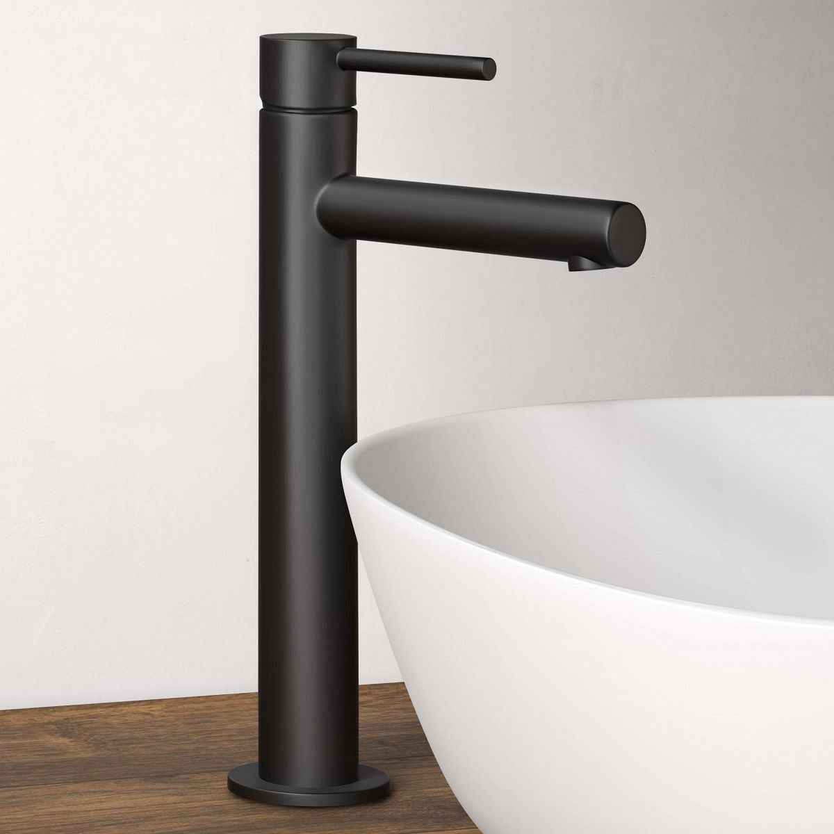VitrA Origin Matt Black Tall Basin Mixer