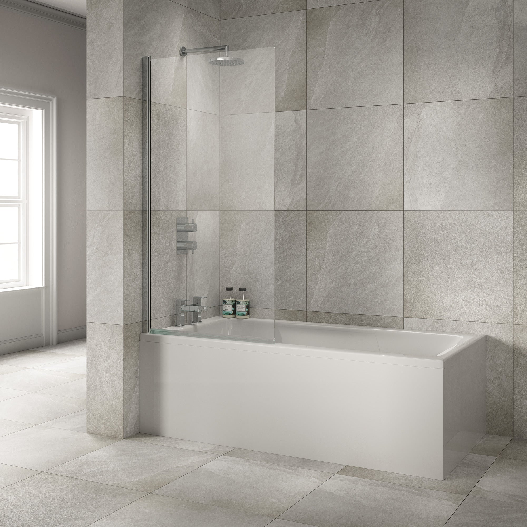 Sommer Square Bath Screen - blueskybathrooms