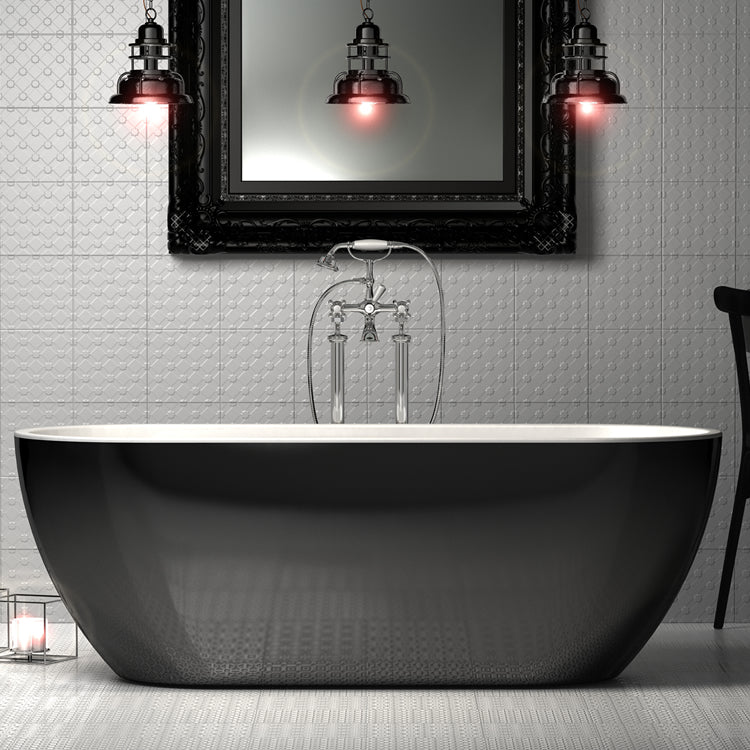 Charlotte Edwards 1690mm Belgravia Gloss Black Contemporary Freestanding Bath