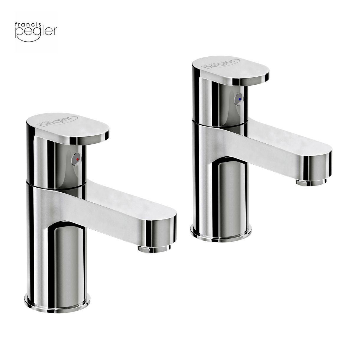 Francis Pegler Strata Blade Basin Taps (Pair) - Blue Sky Bathrooms Ltd