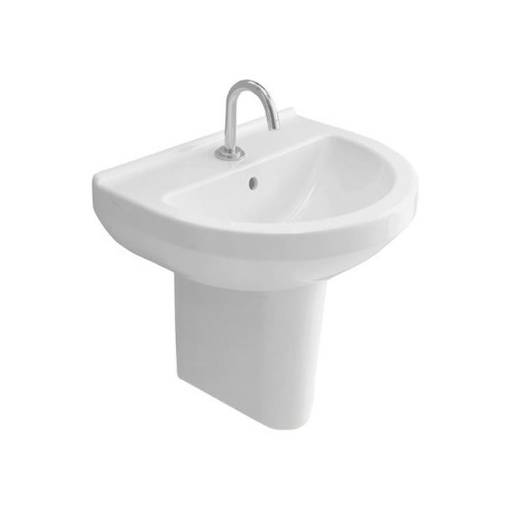 S50 500mm Round Basin and Pedestal - blueskybathrooms