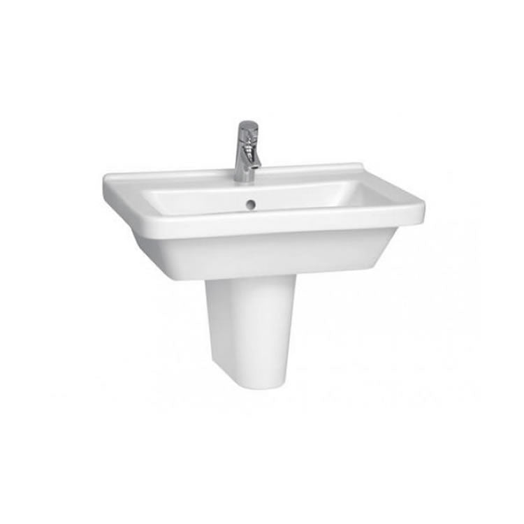 S50 Square Basin And Pedestal - blueskybathrooms