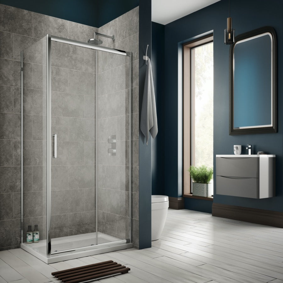 Sommer 8 Sliding Door Enclosure - blueskybathrooms