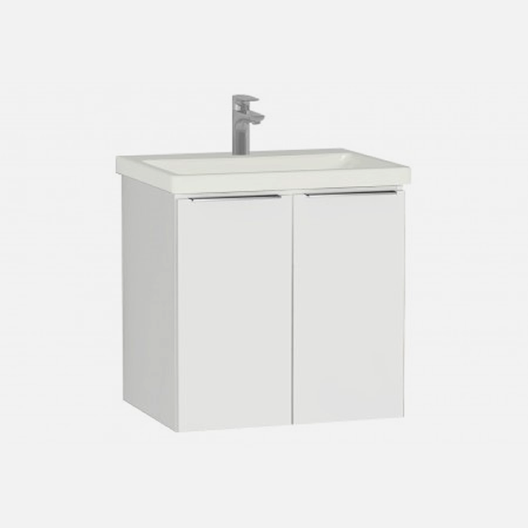 Ecora 600mm Two Drawer Wall Hung Unit and Basin - blueskybathrooms