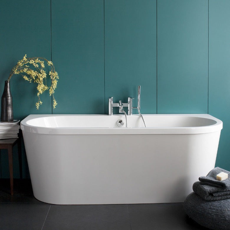 Britton Cleargreen Saturn Freestanding Bath - blueskybathrooms
