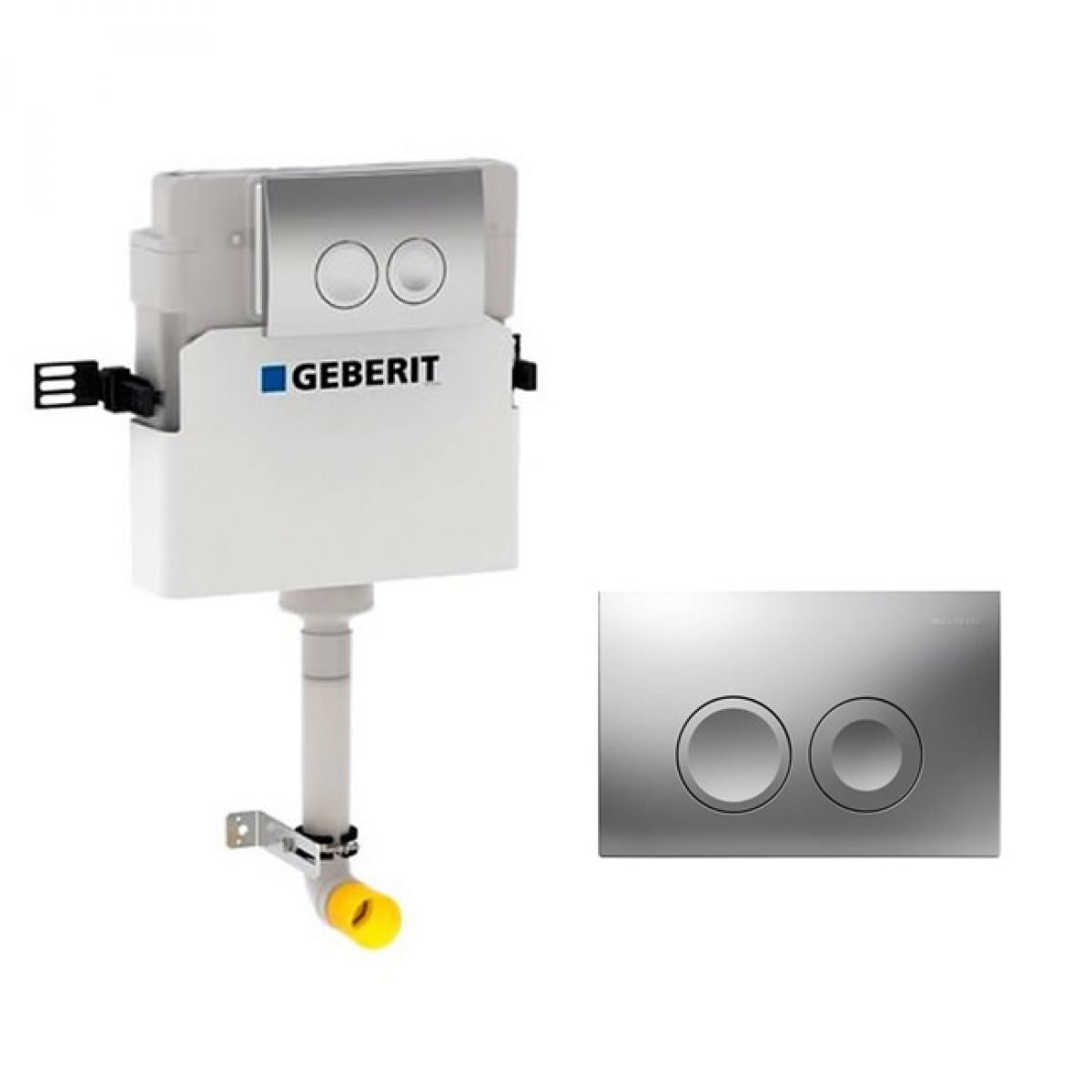Image of Geberit Duofix Delta 112cm Concealed Cistern with Delta 21 Flush Plate