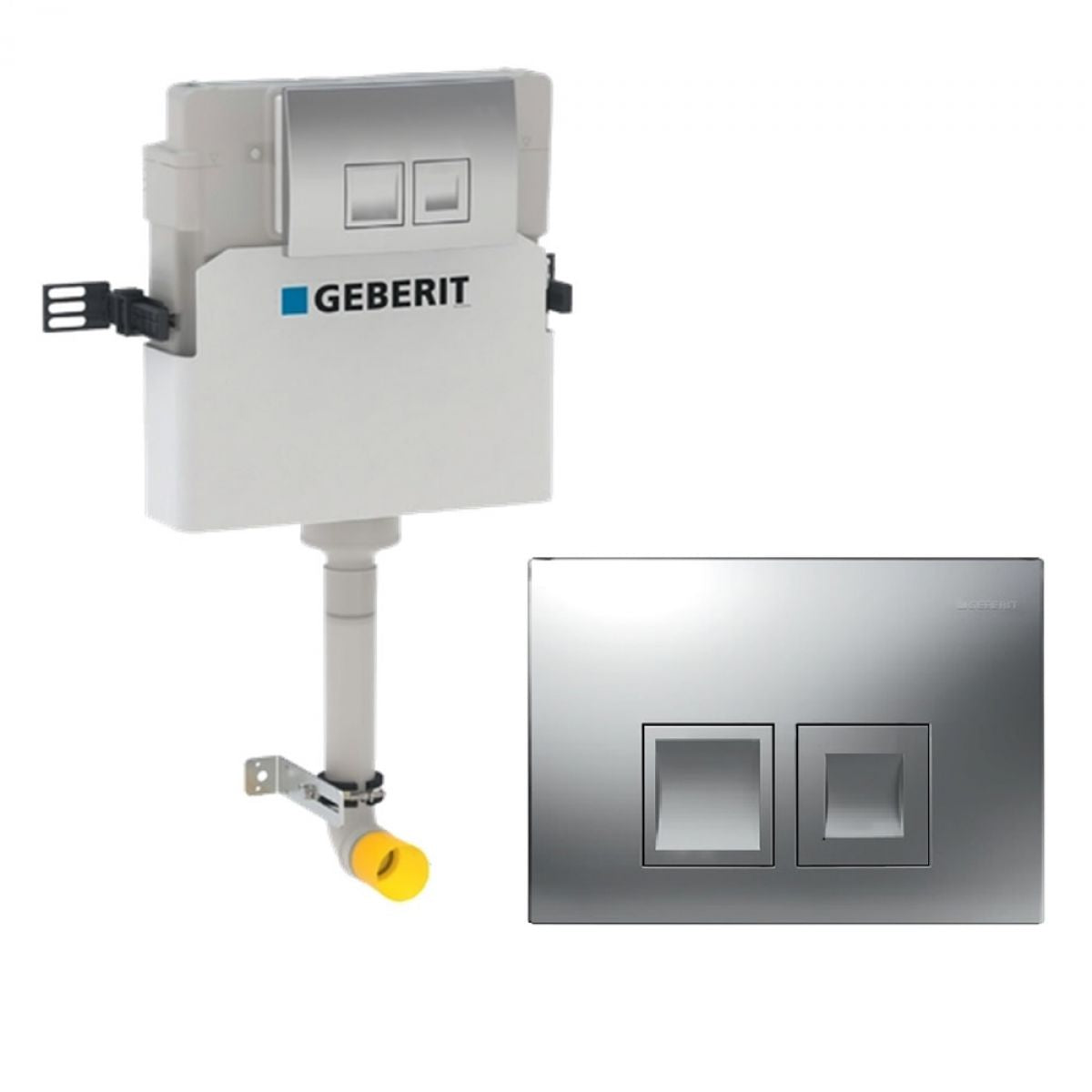 Image of Geberit Duofix Delta 112cm Concealed Cistern with Delta 50 Flush Plate