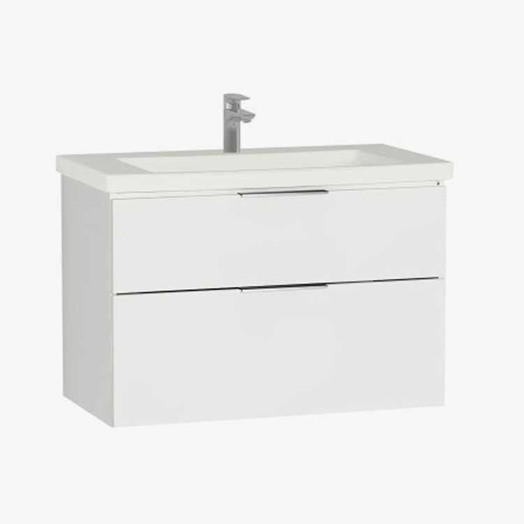 Ecora 900mm Two Drawer Wall Hung Unit and Basin - blueskybathrooms